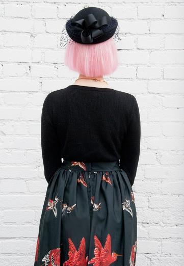 saraisinlovewith_vintage_maxi_skirt_paradise_birds_melissa_shoes_vintage_hat_net_myvintagewedding